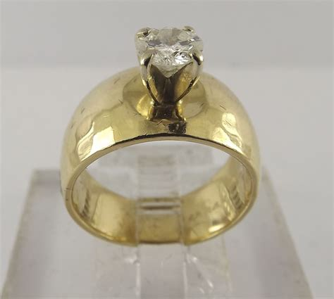 s thick band wedding rings wide band solitaire