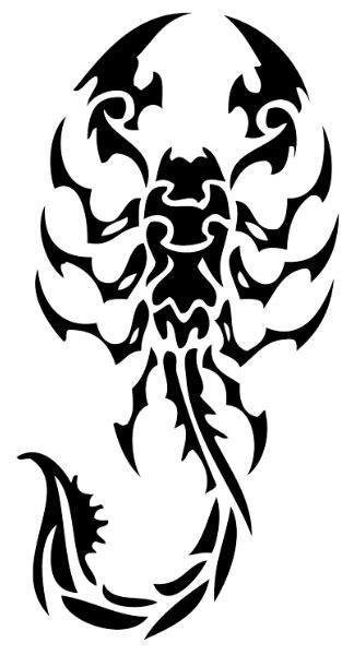 tribal scorpion tattoos ideas