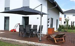 Sonnenschirm Von Oben : wir bauen ein haus terrasse mit sonnenschirm ~ Orissabook.com Haus und Dekorationen