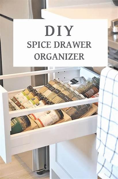 Spice Drawer Diy Organization Kitchen Organizer Insert