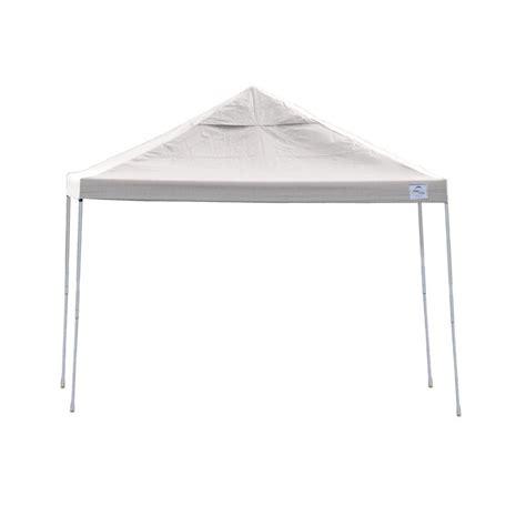 shelterlogic pro series  ft   ft white straight leg pop  canopy   home depot