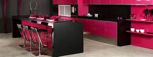 Cuisine noir et rose for Decoration pour jardin exterieur 5 cuisine quartz noir