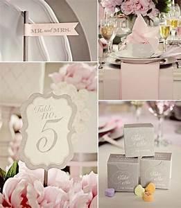 Chemin De Table Rose Pale : decoration mariage gris et rose pale ~ Teatrodelosmanantiales.com Idées de Décoration