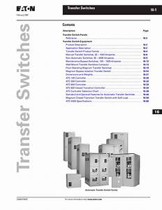 Tab 16 - Transfer Switches By Greg Campbell
