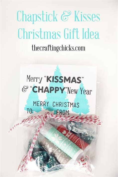 chapstick kisses christmas gift idea diy christmas
