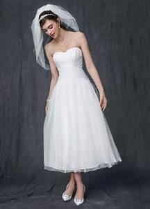 david39s bridal strapless tulle tea length wedding dress ebay With strapless tea length wedding dress