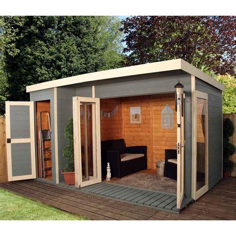 large outdoor sheds shedswarehouse oxford summerhouses 12ft x 8ft 3