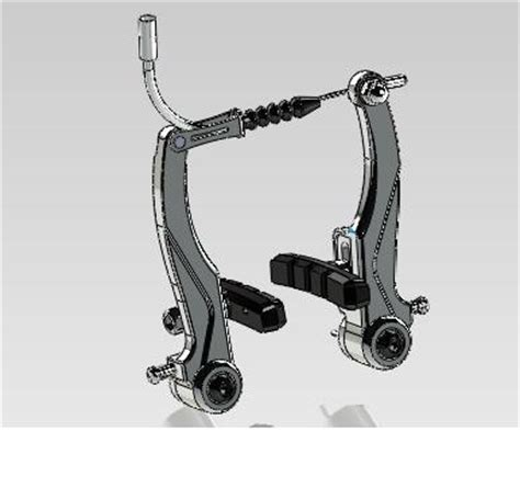 Bike Vbrake  Stl, Step  Iges, Solidworks  3d Cad Model