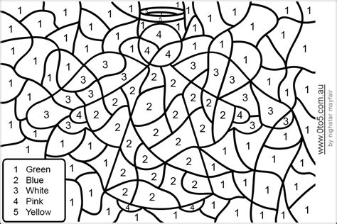 Hard Color By Number Printables #3195 Coloring Pages for