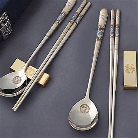 set fork spoon chopstick qoo10 titanium spoon chopsticks fork tea spoon set made