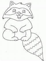 Coloring Raccoon Pages Baby Printable sketch template