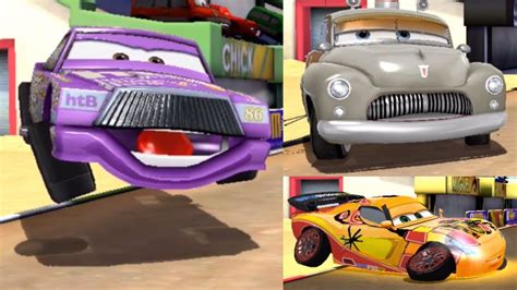 cars fast  lightning chick hicks  sheriff  miguel
