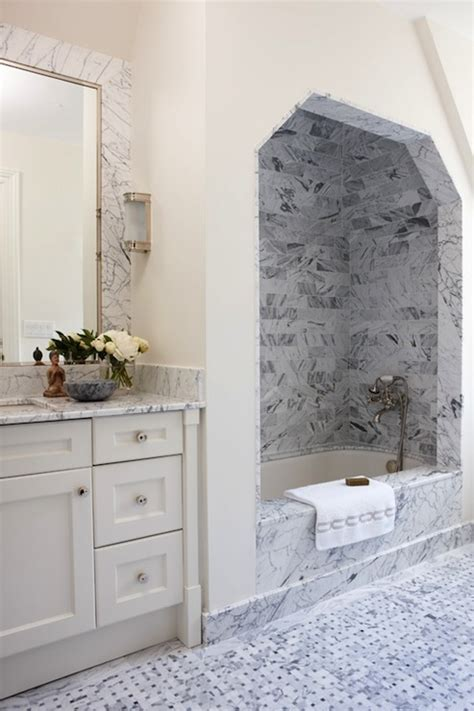 bathroom alcove ideas marble shower alcove transitional bathroom anne hepfer designs