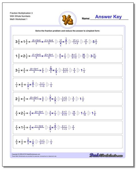 fraction multiplication  wholes