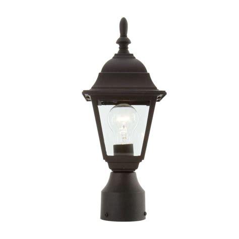 hton bay 1 light black outdoor l hb7026p 05 the