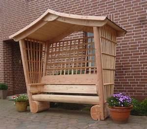 gartenlaube holzrosenbankholzbankgartenmobelholzmobel With französischer balkon mit rosen für garten kaufen