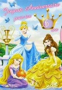 Carte Anniversaire Pour Enfant : carte anniversaire les princesses carte anniversaire pour enfant disney vive la carterie ~ Melissatoandfro.com Idées de Décoration