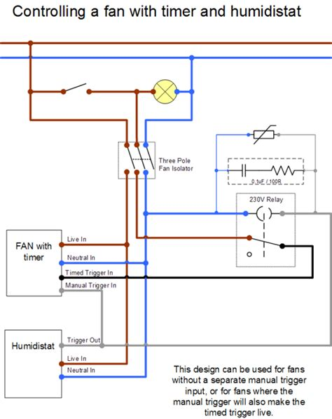 Fan Lighting Diagram by Px Fan With Timed And Humidistat Trigger Vintage Themes