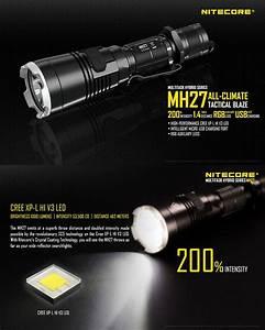 Lampe Torche Longue Portée : lampe tactique nitecore mh27 1000lumens lampe torche de ~ Dailycaller-alerts.com Idées de Décoration