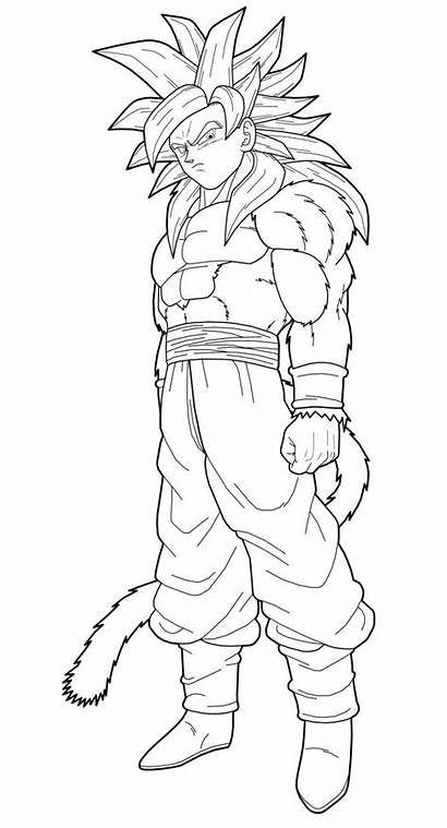 Goku Ssj4 Lineart Dragonball Dragon Ball Ssj
