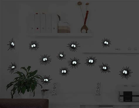soot sprite wall sticker set contemporary wall stickers