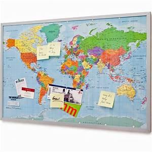 Pinnwand Weltkarte Kork : memo pinnwand aus cork mit xxxxl weltkarte 120 x 80 cm ~ Markanthonyermac.com Haus und Dekorationen