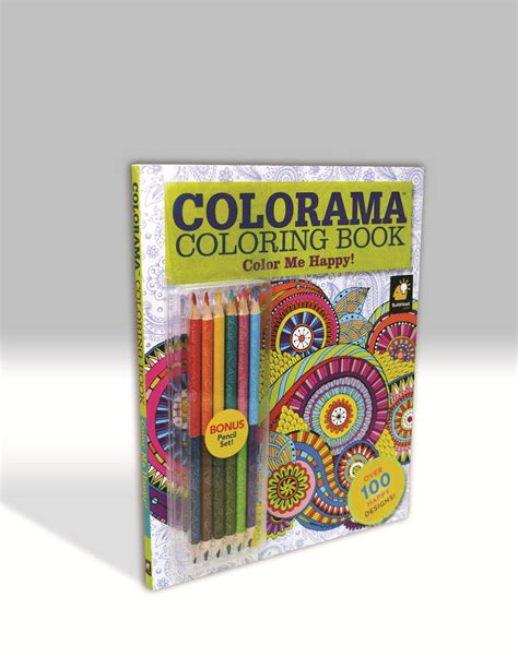 as seen on tv colorama color me happy adult coloring book
