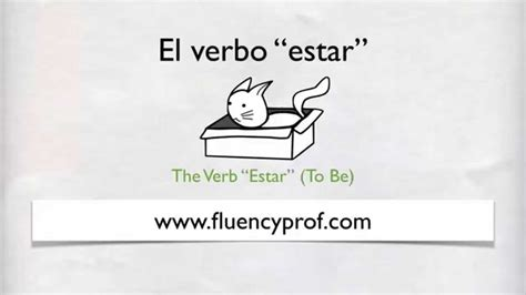 How To Use The Verb Estar In Spanish Youtube