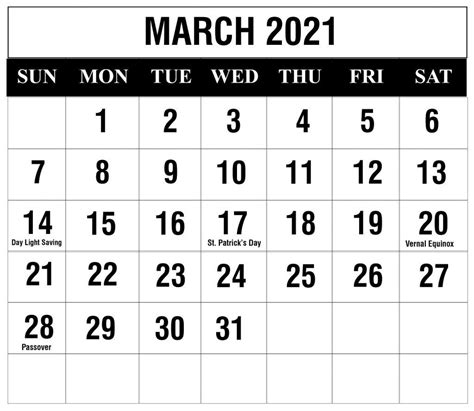 Each row (week).and 2 nails for hanging refills are available in the shop. Printable Calendar 2021 February March April