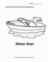 Coloring Motor Boat Cars Popular sketch template
