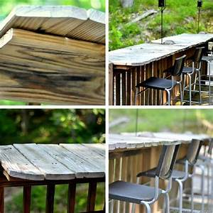 26 creative and low budget diy outdoor bar ideas amazing for Diy outdoor bar