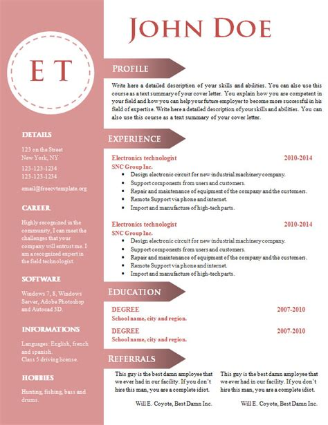 free document free cv resume template 740 746 free cv template dot org