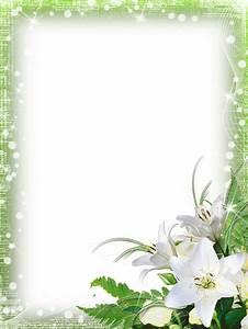 Green-PNG Photo Frame with Flowers | marcos | Pinterest ...