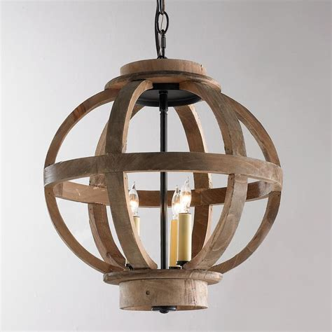 mini wood globe lantern rustic wood foyers  hallways