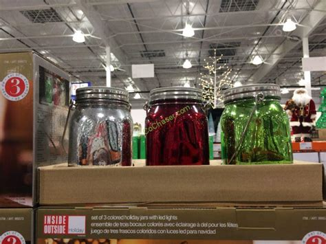 holiday jars with led lights set of 3 costcochaser