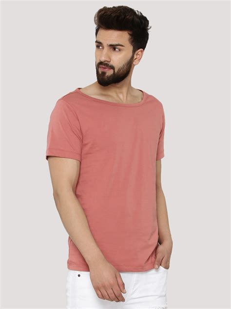 Boat Neck T Shirt For Mens buy koovs boat neck t shirt for s pink t shirts