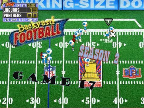 backyard football pc backyard football 1999 pc season 2 17 season