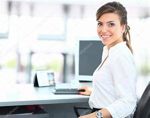 Modern business woman in the office — Stock