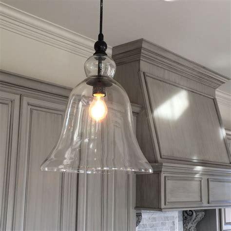 kitchen large glass bell hanging pendant light hanging