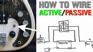 How To Wire An Active  Passive Bypass Switch For A Bass Preamp
