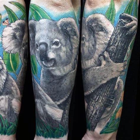koala tattoo designs  men wild animal ink ideas