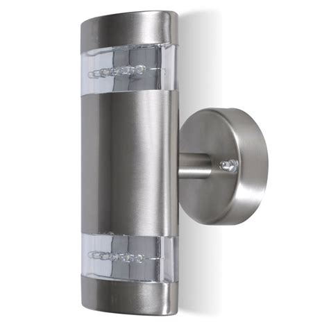led wall light l indoor outdoor stainless steel