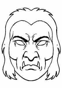 Dessin Citrouille Facile : coloriage masque monstre sur ~ Melissatoandfro.com Idées de Décoration