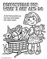 Scout Coloring Daisy Scouts Law Responsible Say Petal Daisies Makingfriends Petals Responsibility Printable Sheets Activities Help Orange Template Brownie Sheet sketch template
