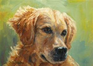 Daily Painting Projects: Golden Summer Oil Painting Dog ...
