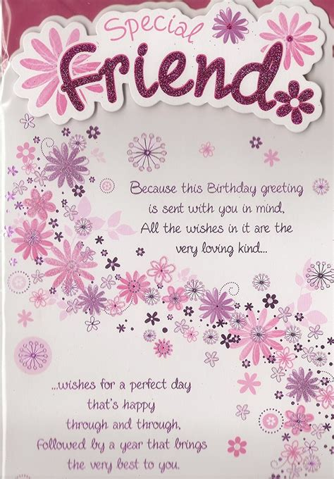 Want to take your imagination a step further? Birthday Special Friend Card - Pink Flowers