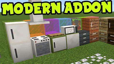 mcpe addon modern furniture decorations addon