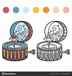 Boite à Musique Danseuse : livre de coloriage bo te musique danseuse image vectorielle ksenya savva 155567280 ~ Teatrodelosmanantiales.com Idées de Décoration