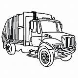 Truck Garbage Coloring Clip Clipart Pages Snow Dump Plow Ford Trash Outline Draw Semi Drawing Trucks Cliparts Sanitation Diesel Toy sketch template