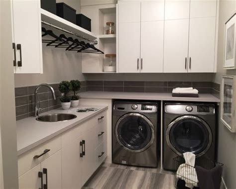 Modern L shaped Laundry Room Design Ideas, Renovations